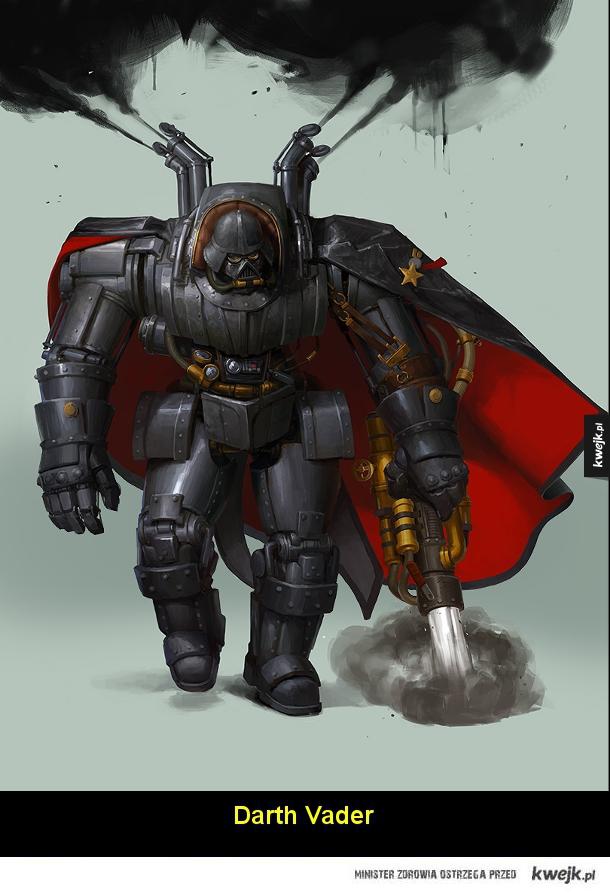 Steampunkowe Gwiezdne Wojny autorstwa Bjorna Hurri
