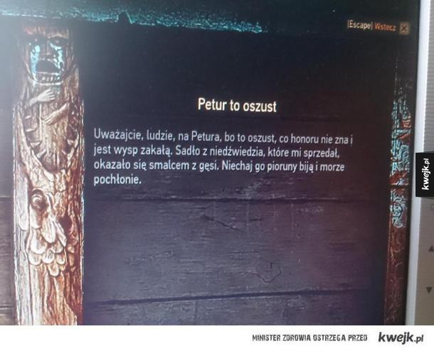 Petur? Petru? Osz wy śmieszki z Wiedźmina