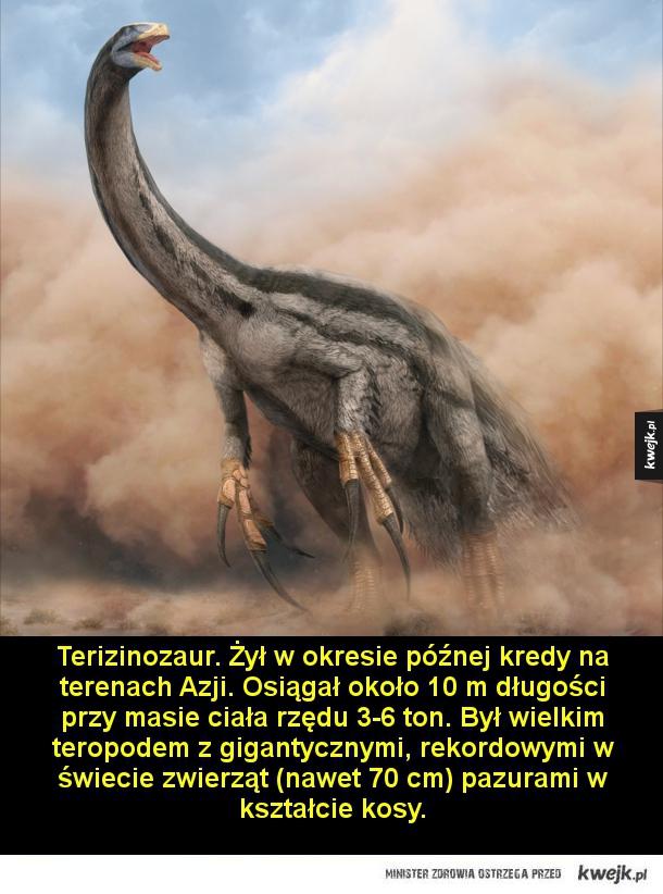 Atopodentatus. Wodny gad żyjący 247-242 milionów lat temu w środkowym triasie.  Miał około 3 m długości. Jego cechą charakterystyczną były nietypowe szczęki, przypominające nieco wyglądem suwak.  Helikoprion. Ryba chrzęstnoszkieletowa żyjąca od późnego kar