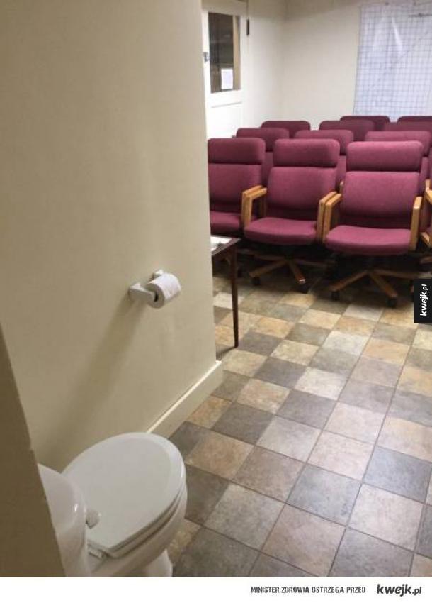 Ryzykowne miejsce dla toalety