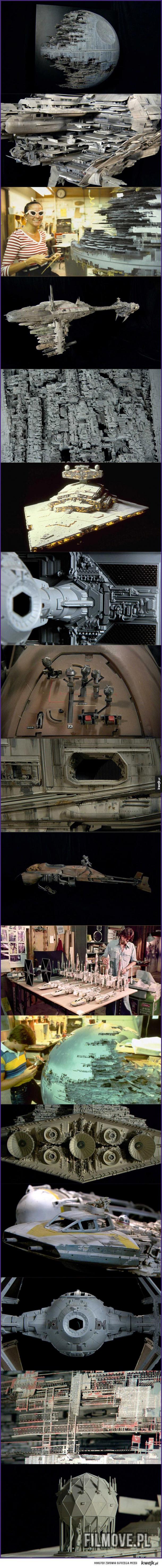 Modele użyte w Gwiezdnych Wojnach to dzieła sztuki