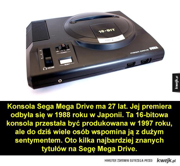 Popularne gry na Sega Mega Drive - Konsola Sega Mega Drive ma 27 lat. Jej premiera odbyła się w 1988 roku w Japonii. Ta 16-bitowa konsola przestała być produkowana w 1997 roku, ale do dziś wiele osób wspomina ją z dużym sentymentem. Oto kilka najbardziej znanych tytułów na Segę Mega Drive.
