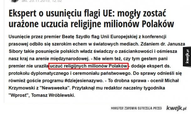Unia Europejska oficjalnie religią milionów Polaków