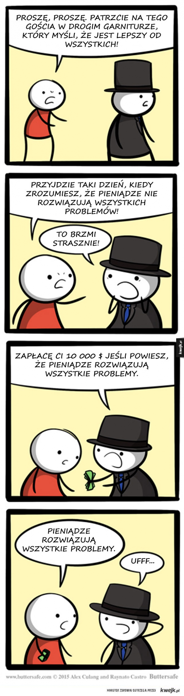 Krótki komiks o sile pieniądza