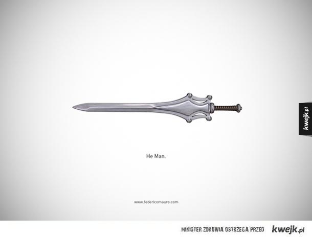 Broń biała słynnych filmowych postaci