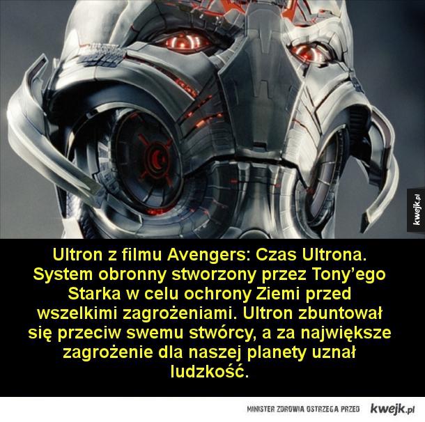 Najgroźniejsze SI znane z filmów, gier i książek - Skynet z Terminatora. System obrony, który uzyskał samoświadomość i dążył do całkowitego unicestwienia ludzkości. Kontrolował terminatorów.  Żniwiarze z serii gier Mass Effect. Starożytne maszyny kontrolujące sposób, w jaki rozwijały się cywilizacje w całe