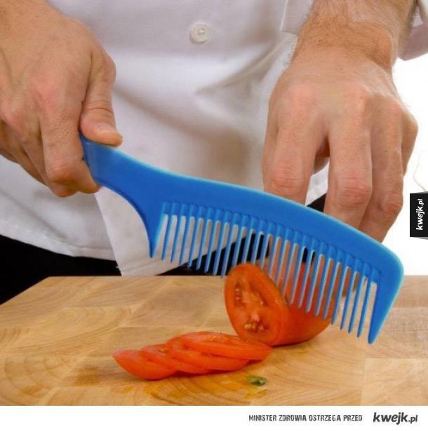 Sprzeciwiaj się krojeniu pomidorów grzebieniem.