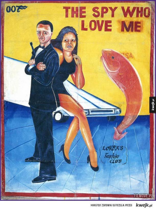 James Bond: Szpieg który mnie kochał - plakat z Ghany