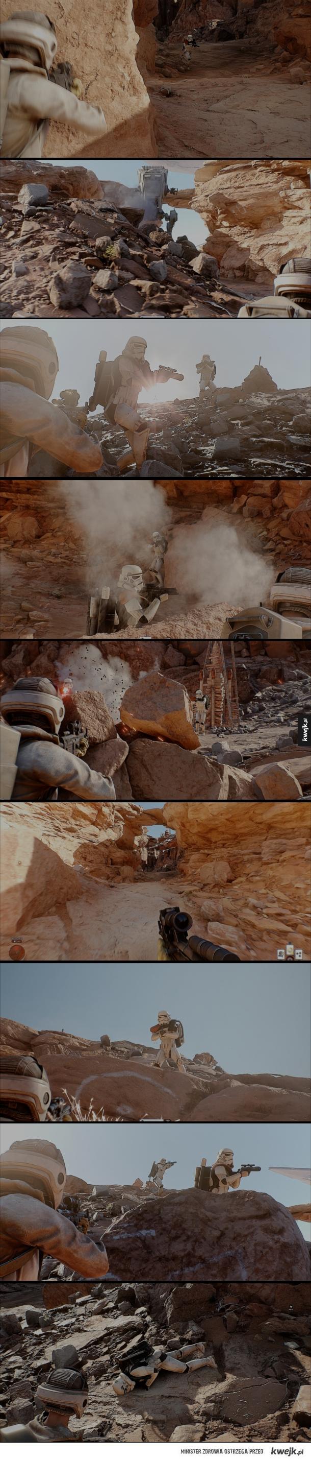 Star Wars: Battlefront z modem Toddyhancer wygląda jak film