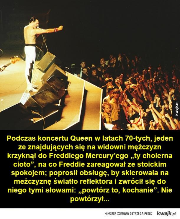 Cięta riposta Freddiego Mercury'ego i inne ciekawostki na dziś