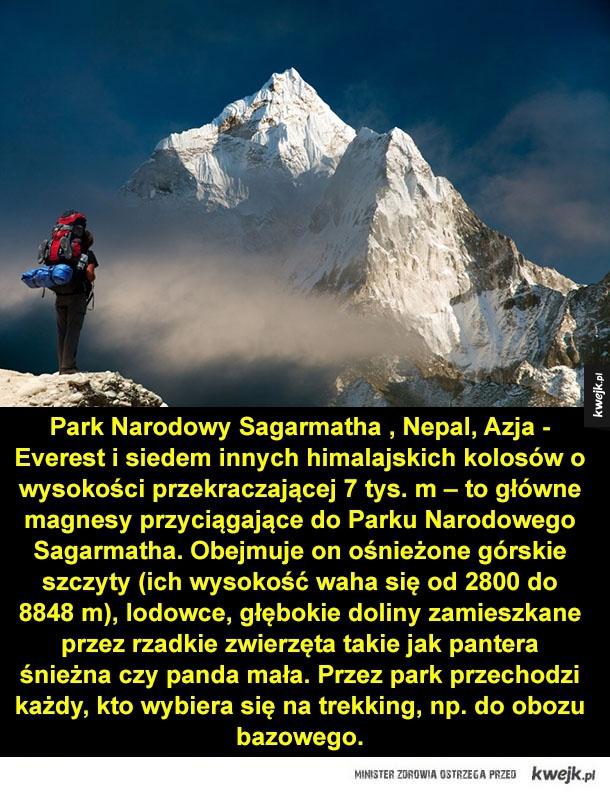 Najpiękniejsze parki narodowe świata - mount everest, kanada, usa, nepal, galapagos