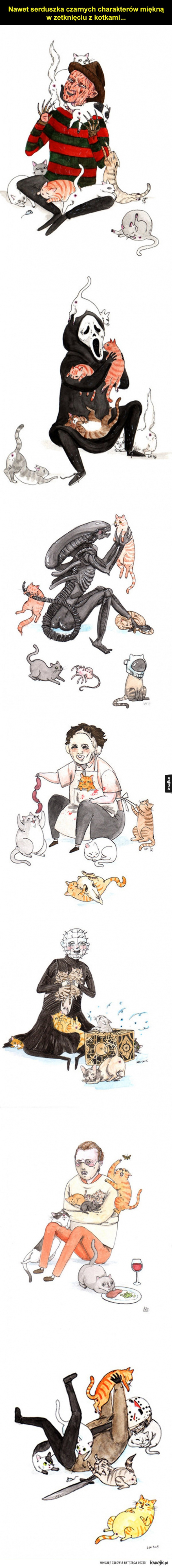 Czarne charaktery z kotkami