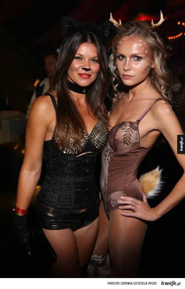 Impreza halloweenowa w domu Playboya - hugh hefner, playboy, króliczki, impreza