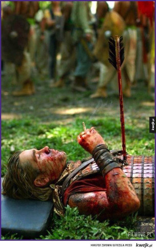 Colin Farrell na planie filmu Aleksander (2004)