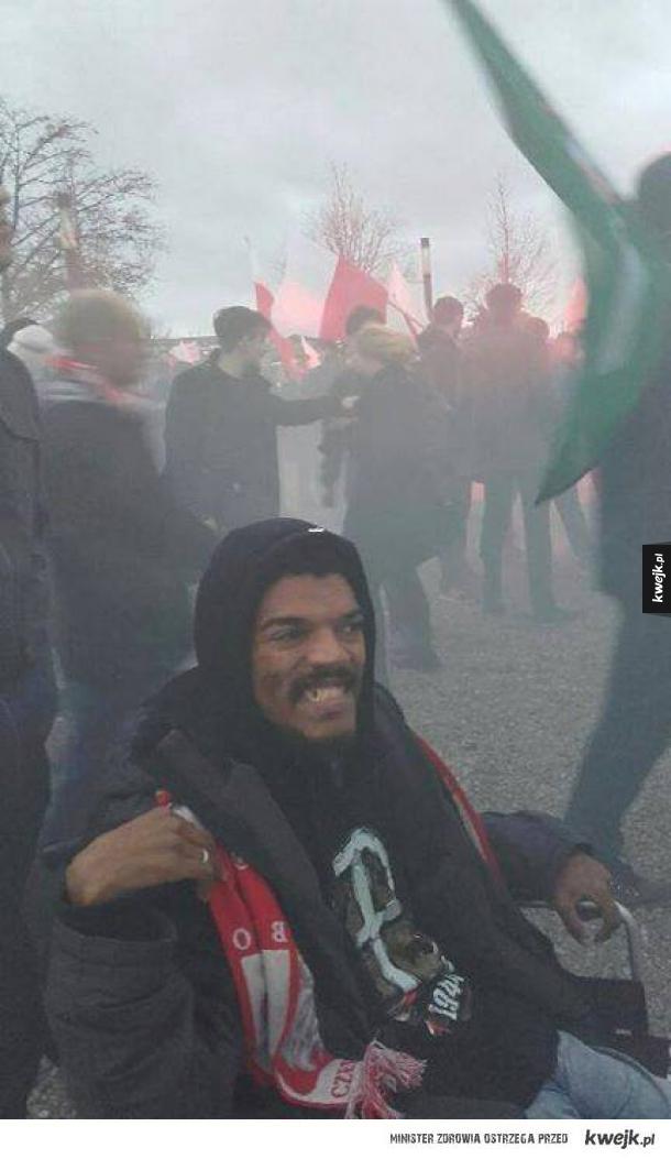 Typowy Polak na Marszu Niepodległości