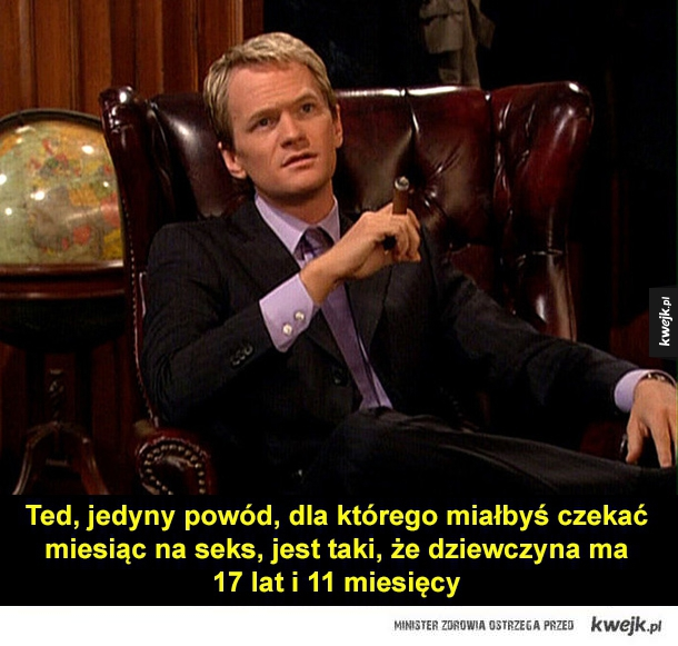 Najlepsze teksty Barneya Stinsona - how i met you mother, barney stinson, podryw, cytat