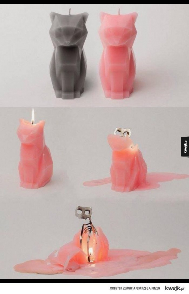 Nietypowa świeczka