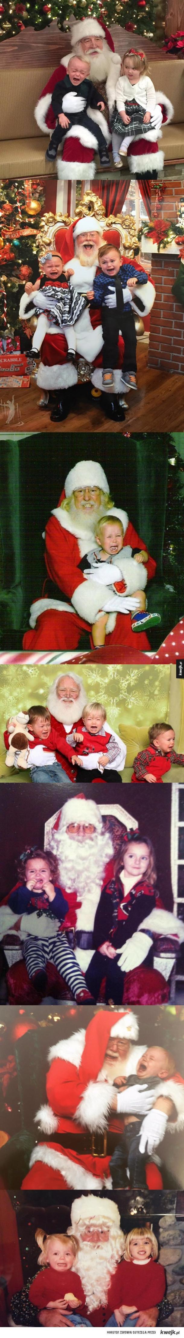 Nie wszystkie dzieci lubią Św. Mikołaja