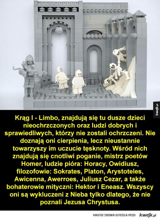 9 kręgów piekielnych Dantego zrobionych z LEGO