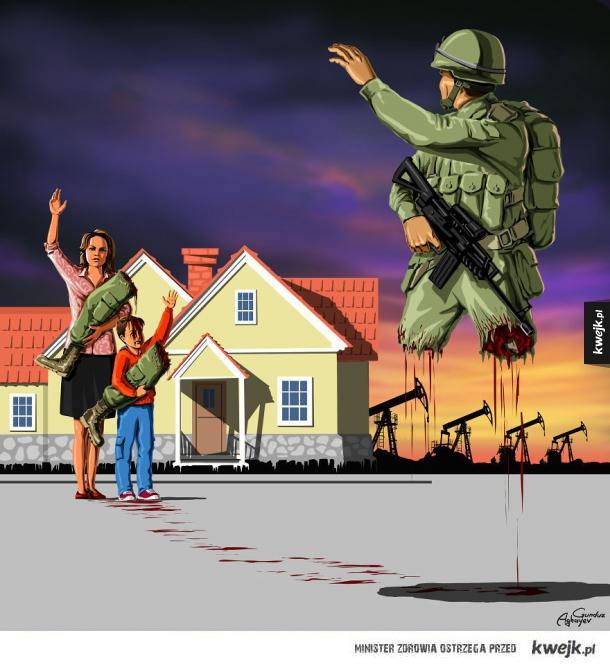 Wojna i pokój na wstrząsających grafikach Gunduza Aghayeva