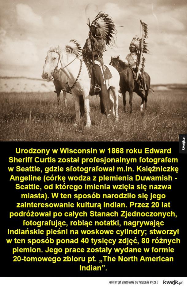 Fotograf północnoamerykańskich Indian