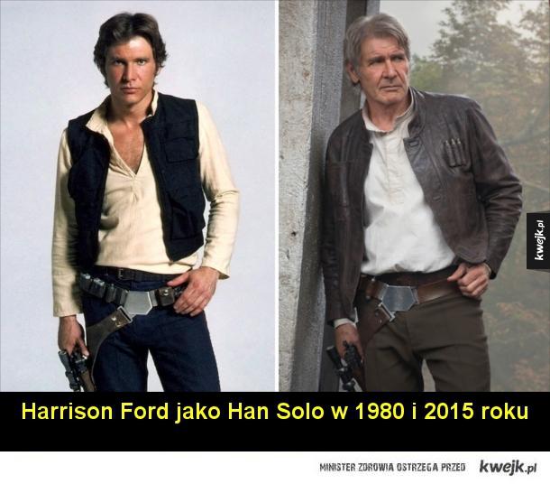 Aktorzy grający w Gwiezdnych Wojnach kiedyś i dziś