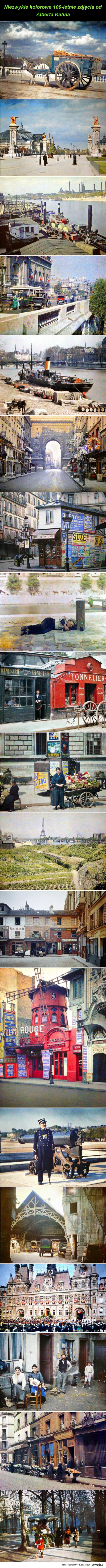 Kolorowe zdjęcia Paryża z 1914 r.