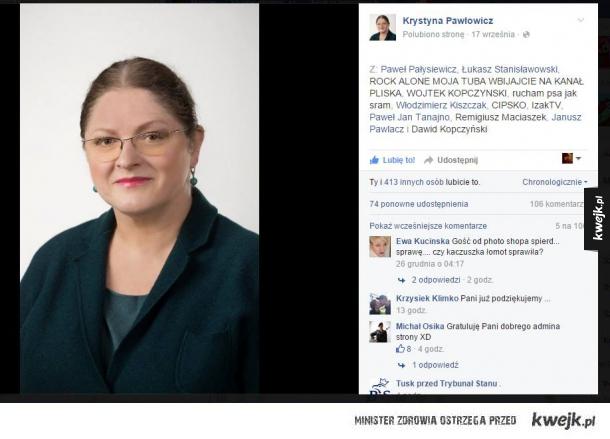 Ktoś trolluje KRystynę Pawłowicz xD