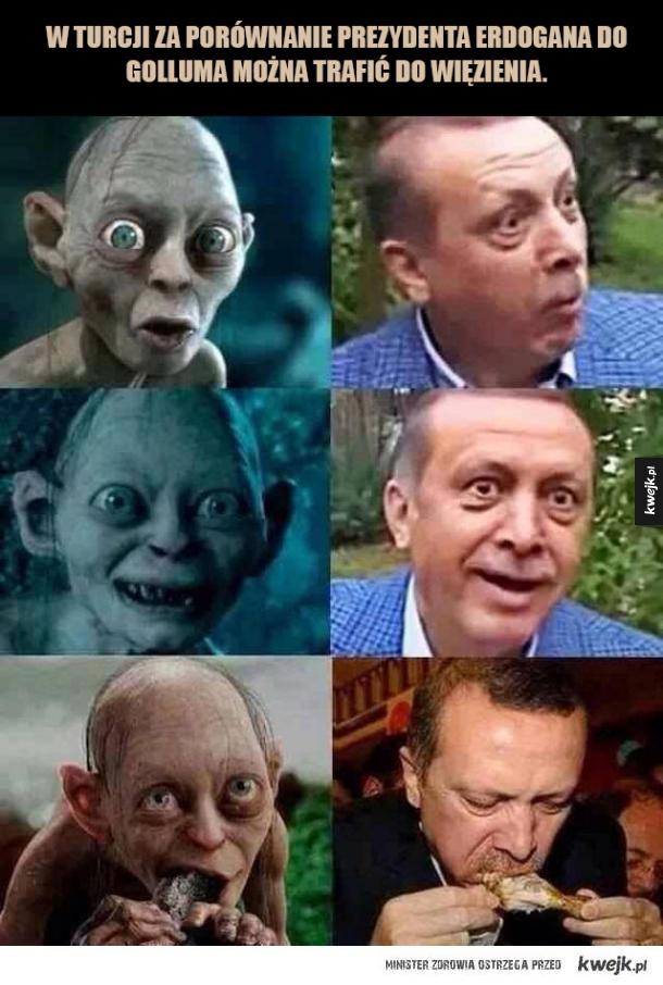 Erdogan jak Gollum