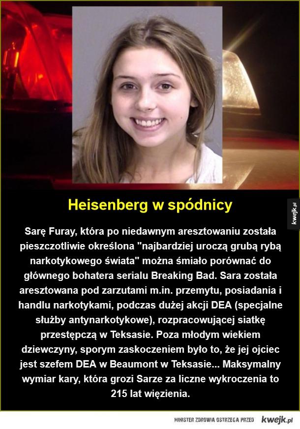 Najciemniej jest zawsze pod latarnią - Heisenberg w spódnicy. Sarę Furay, która po niedawnym aresztowaniu została pieszczotliwie określona
