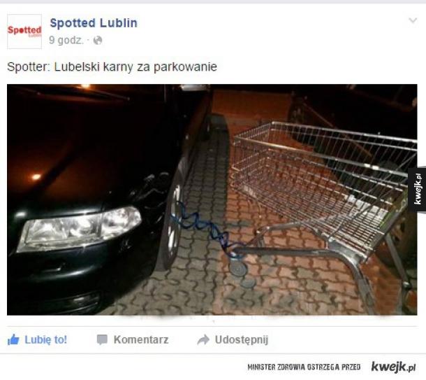 Karny za parkowanie