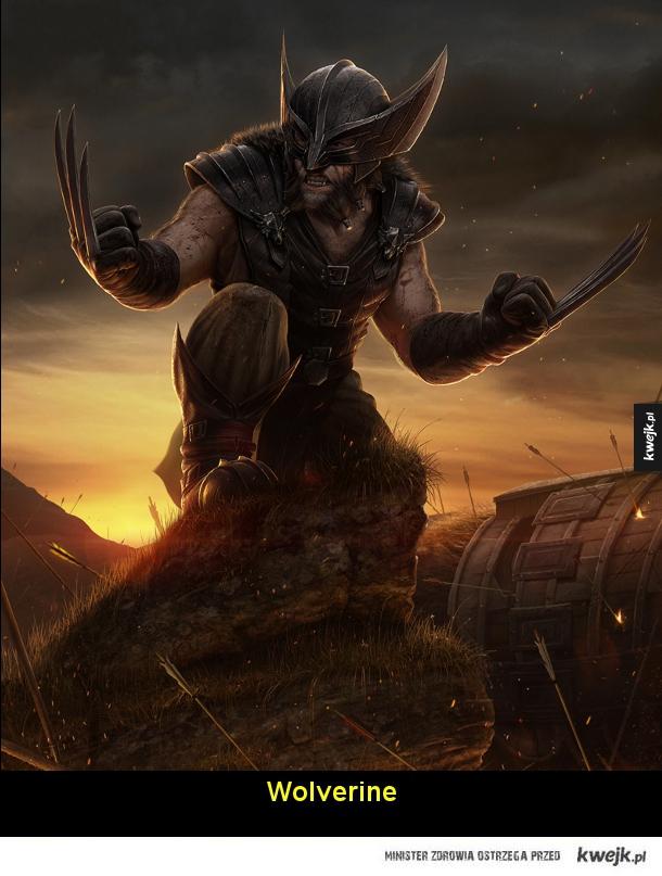 X-Men w czasach Średniowiecza na grafikach Nate'a Hallinana