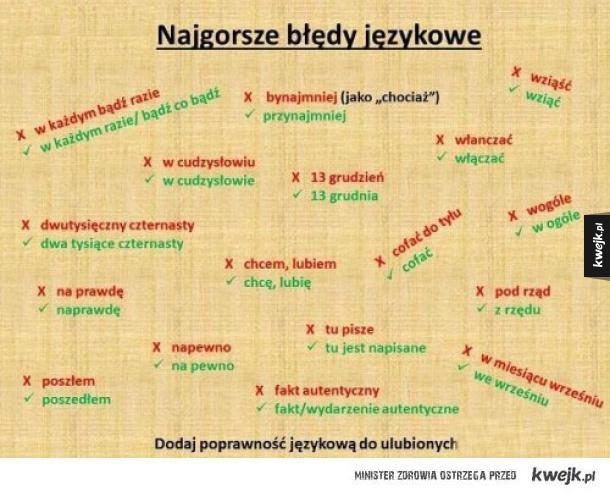 Błedy językowe