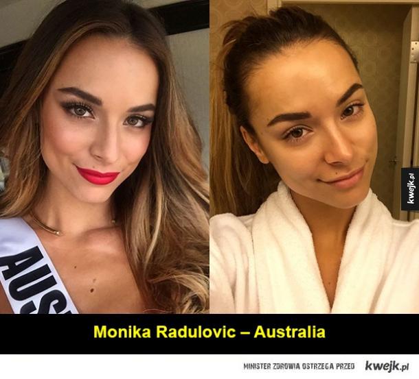 Kandydatki na Miss Universe bez makijażu