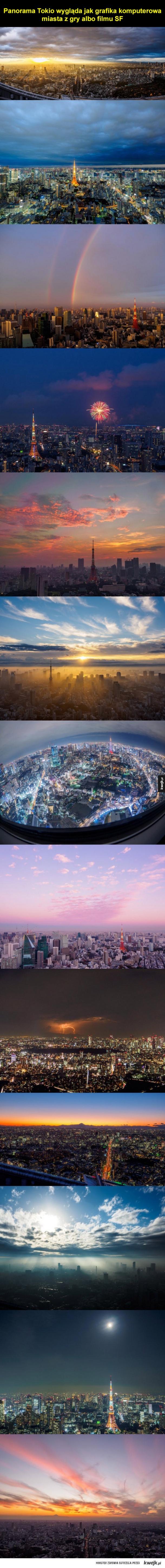 Niesamowita panorama Tokio