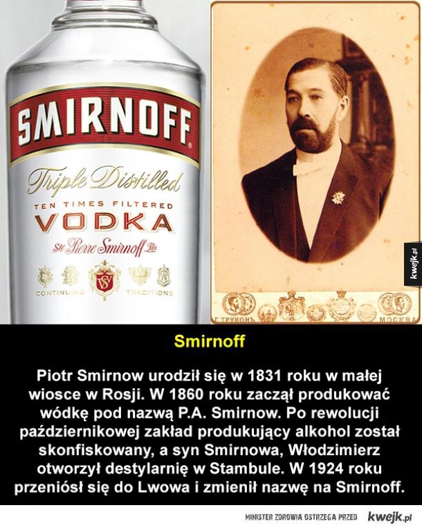 Czyje nazwiska kryją się za nazwami marek alkoholi?