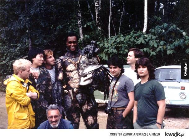 Zdjecia z planu filmowego Predatora