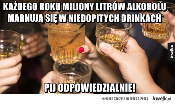 Miliony litrów alkoholu marnuje się!
