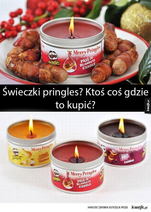 Świeczki Pringles