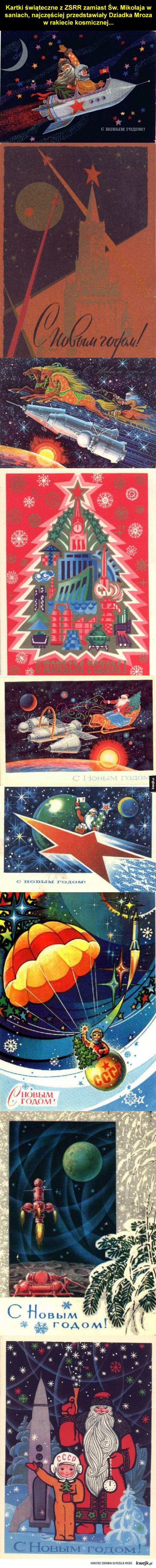 Kartki świąteczne z Sowieckiej Rosji