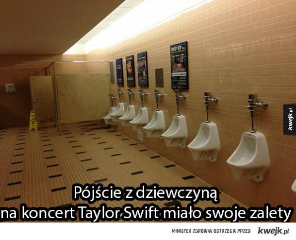 Męska toaleta na koncercie Taylor Swift