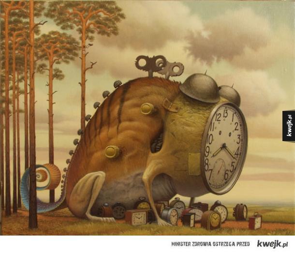 Surrealistyczne prace Jacka Yerki
