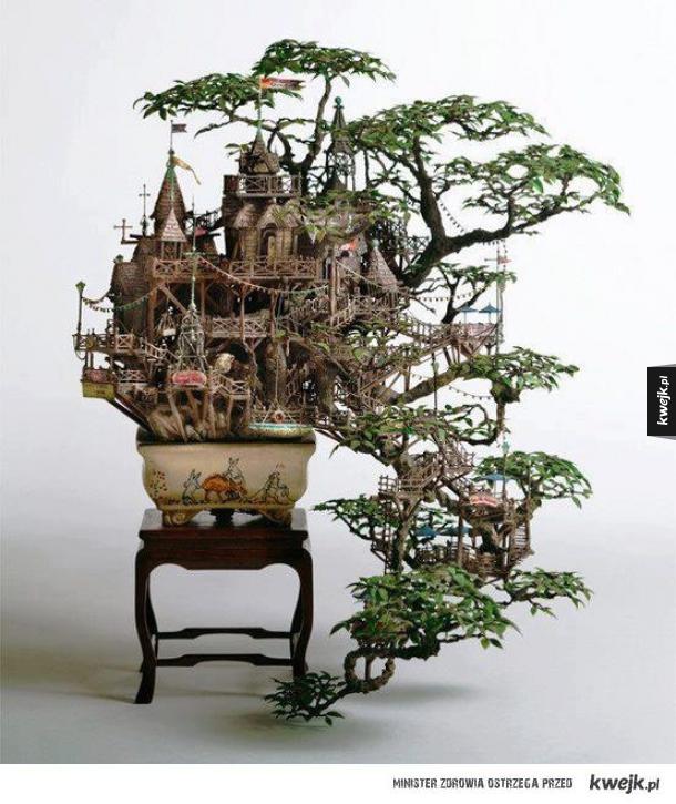 zamek bonsai