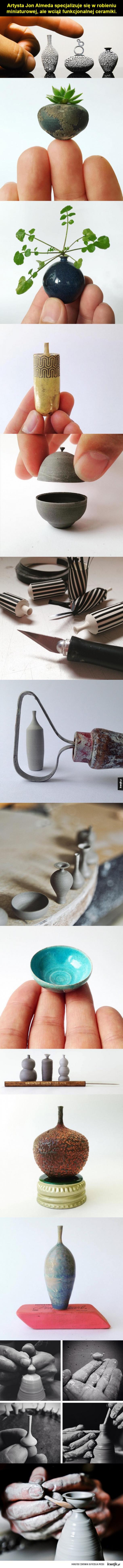 Miniaturowe ceramiczne cudeńka