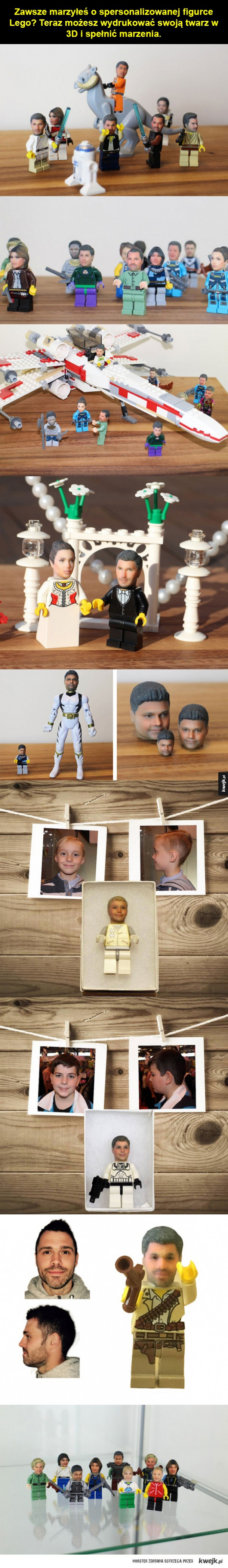 Twoja głowa w Lego