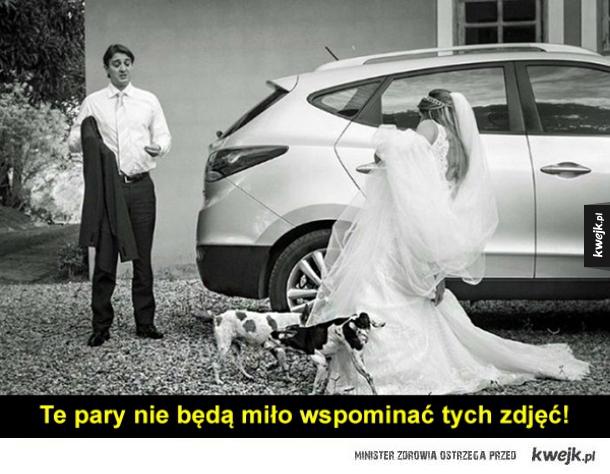 Najśmieszniejsze zdjęcia ślubne