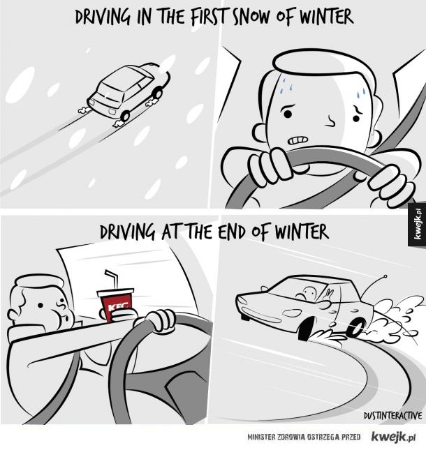 prowadzenie w zimę