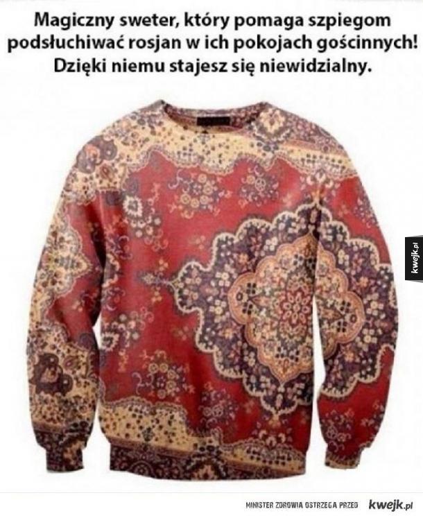 sweter szpiega