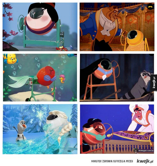 Gdyby księżniczki Disneya były betoniarkami.