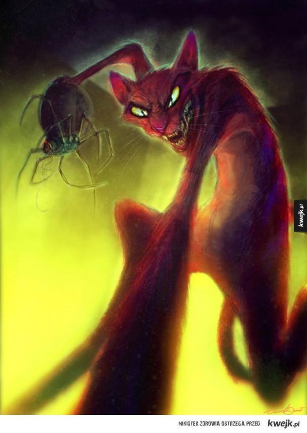 Czarne charaktery z kreskówki Chojrak, tchórzliwy pies